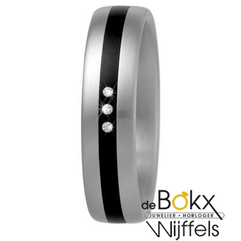 Ring Xeto Staal & diamant - 50848