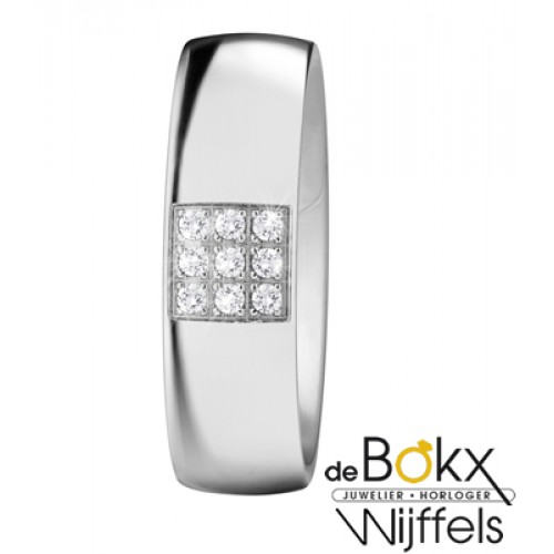 Xeto ring Staal & diamant - 53320