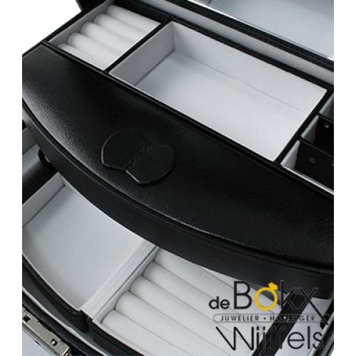 Bijoudoos zwart kunstleer - 54635