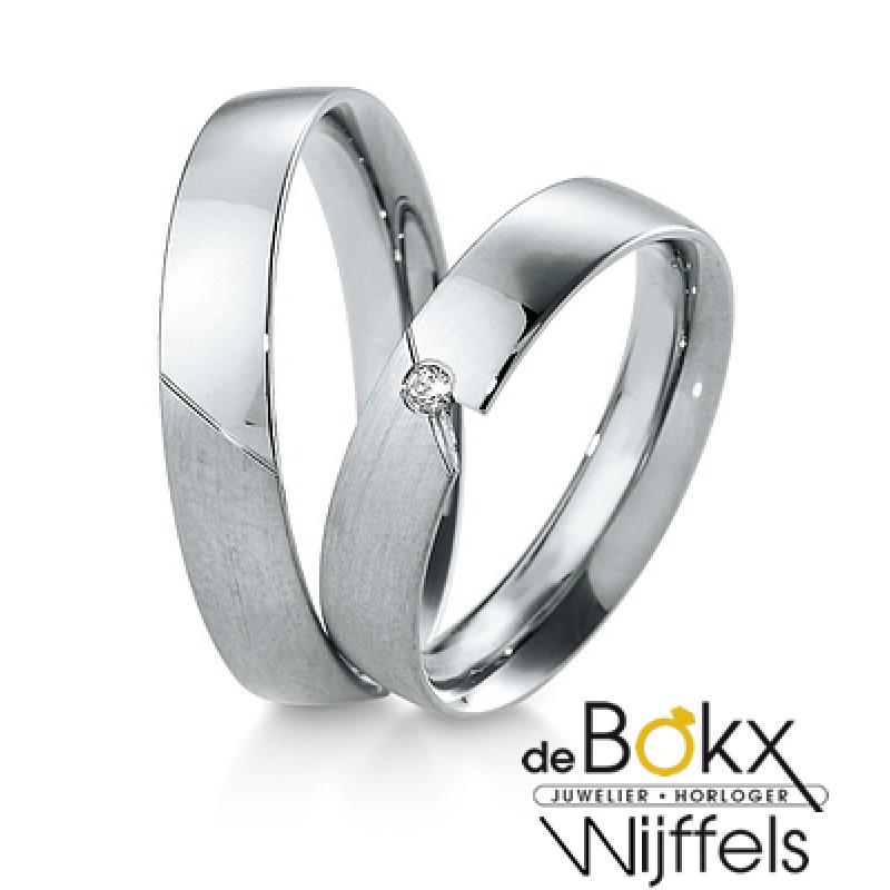 Breuning wit gouden trouwringen - 56629