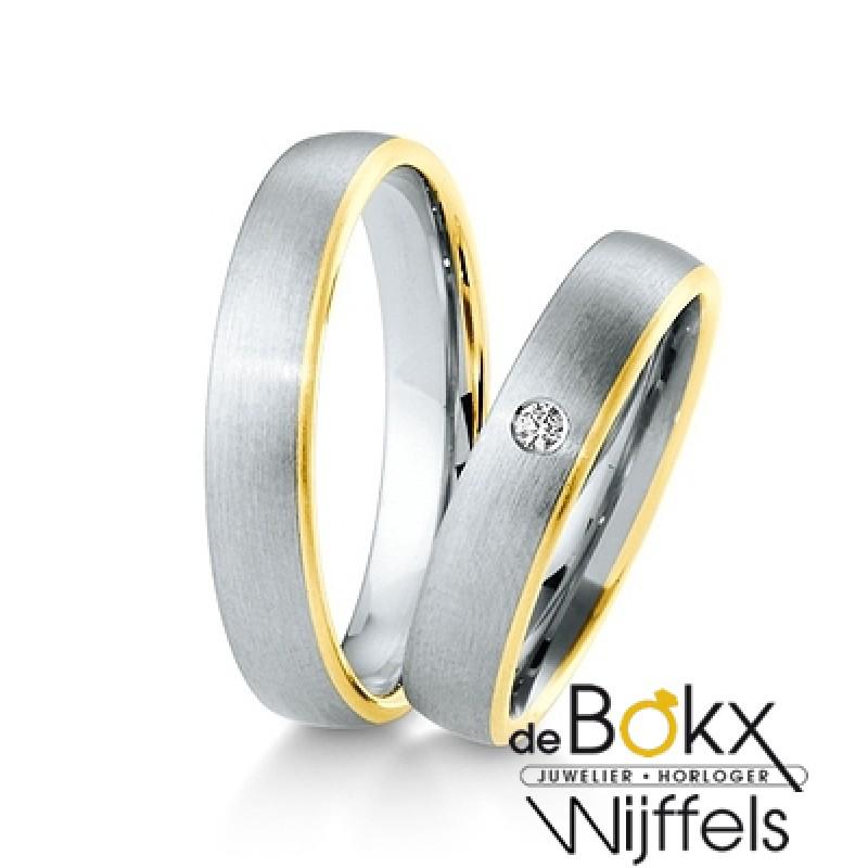 Gouden breuning trouwringen van de inspiration collectie 8K - 56626
