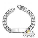 Stevige graveer armband zilver - 56184