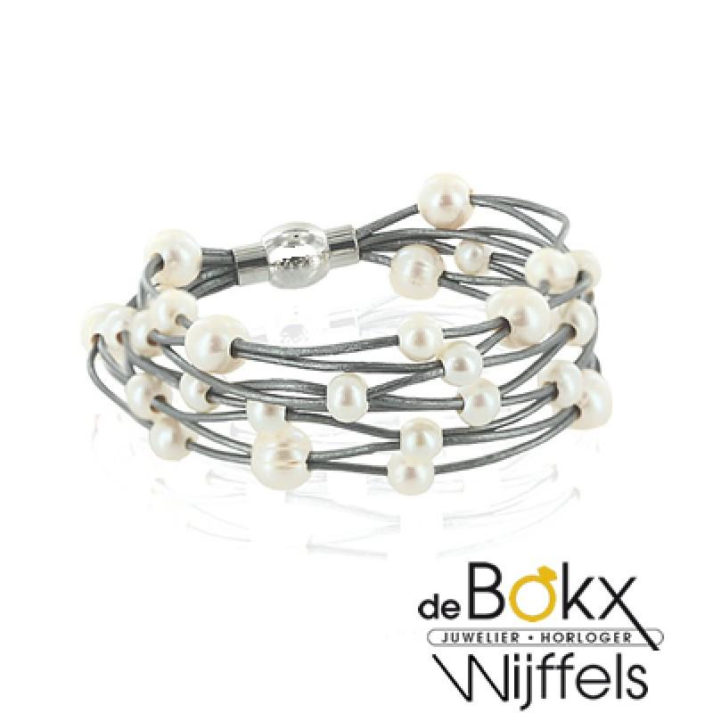 Parel armband met magneetsluiting - 53951