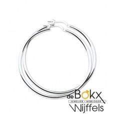 oorbellen zilver (grote ringen) 50mm - 56558