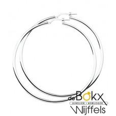 oorbellen zilver (grote ringen) 60mm - 56559