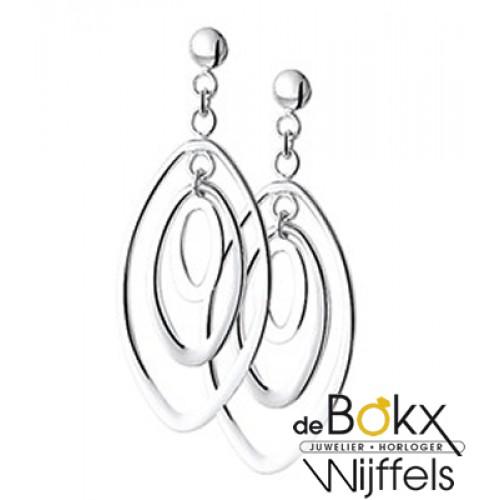 Lange zilveren oorbellen - 56677