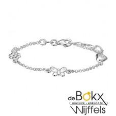 Kinderarmband met bedels zilver - 53487