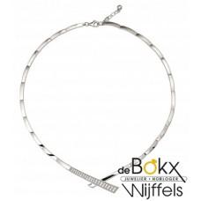 choker in zilver met zirkonia - 55899