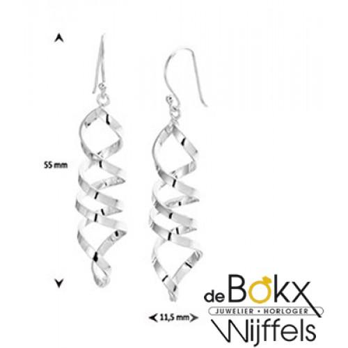 Lange zilveren oorbellen - 56678
