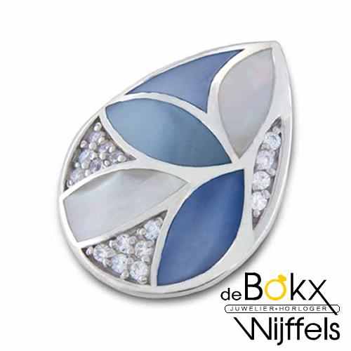 my imenso blue leafs shell mosaic insignia 25mm - 56841