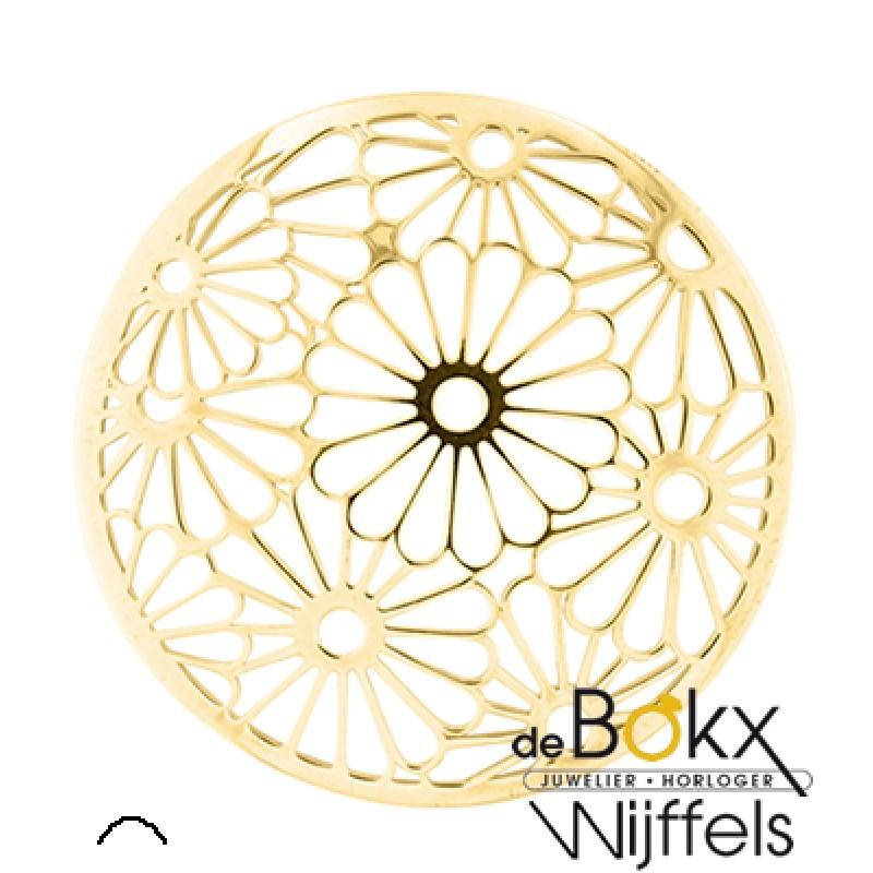 Bloemen cover inzet My imenso goud kleurig - 55039