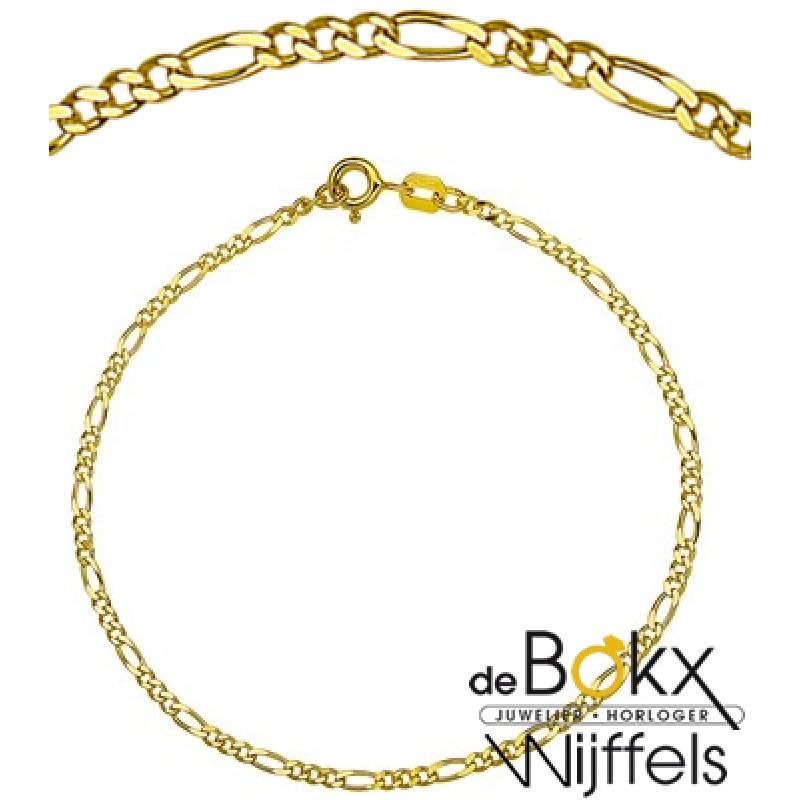 Collier figaro goud 50cm - 54899