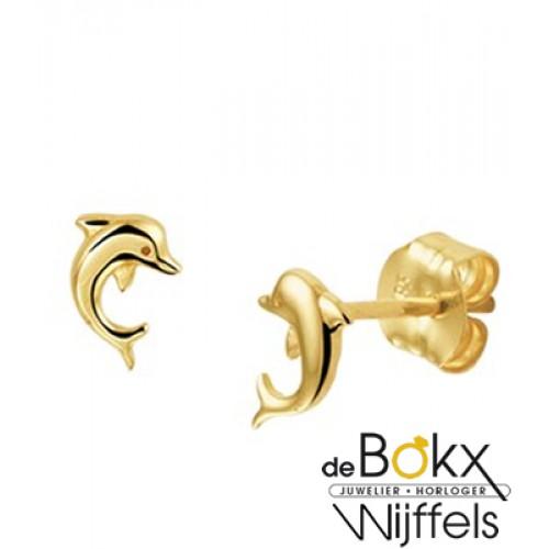 gouden kinderoorbellen dolfijn - 56889