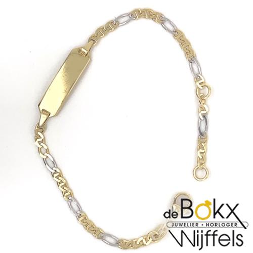 Gouden graveer baby armband 13 - 15cm - 50190