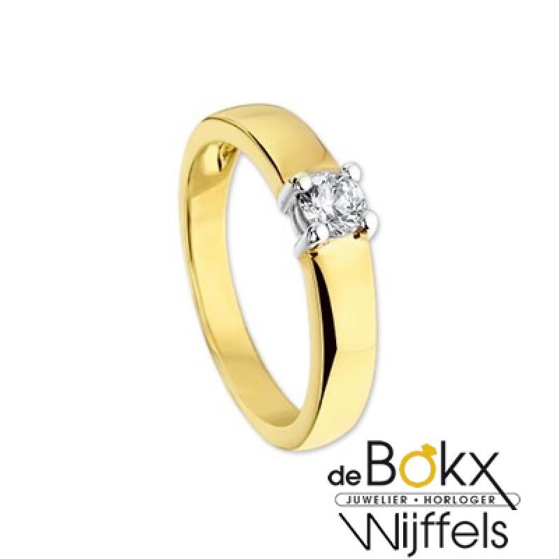 Verlovingsring bicolor goud met zirkonia - 54868