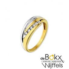 Fantasie ring goud met zirkonia - 54870