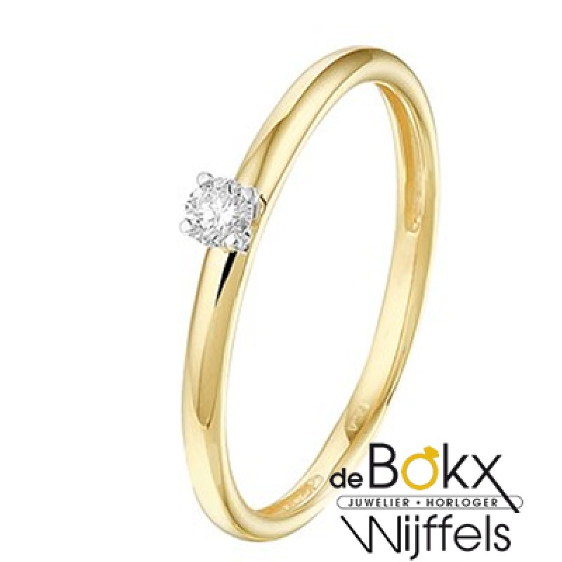 Diamanten ring goud dames - 56820