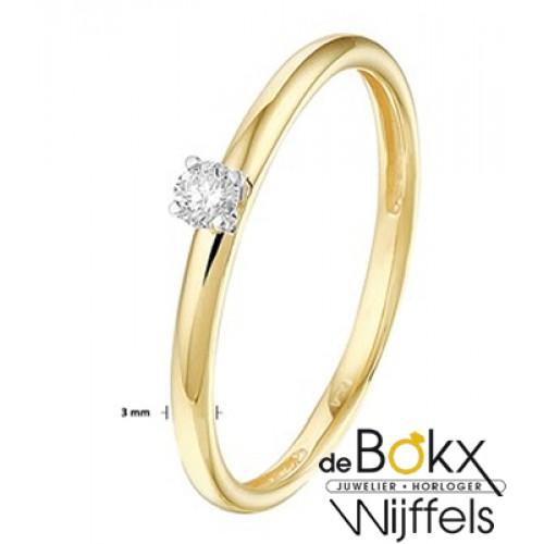 Diamanten ring goud dames - 56820