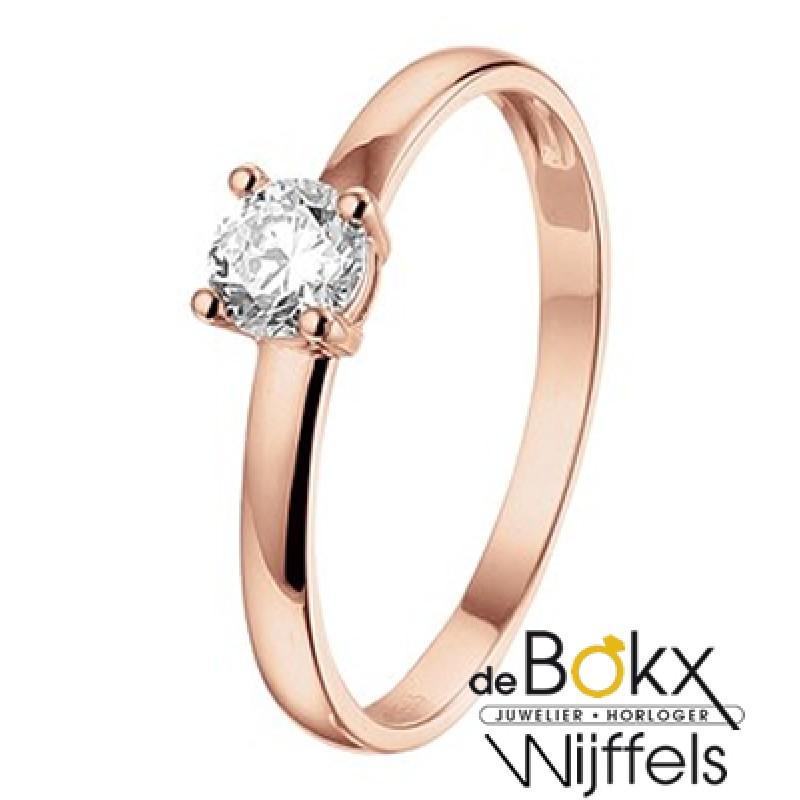 rose goud verlovingsring met zirkonia - 56823