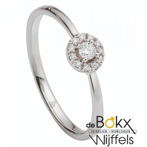Gouden verlovingsring met 12 diamant van Rauschmayer maat 54 - 56311