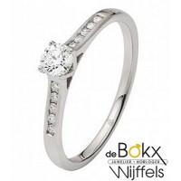 Witgouden verlovingsring met 11 diamant met in totaal 0.17crt in 18  karaat van Rauschmayer 51-00033 - 57006
