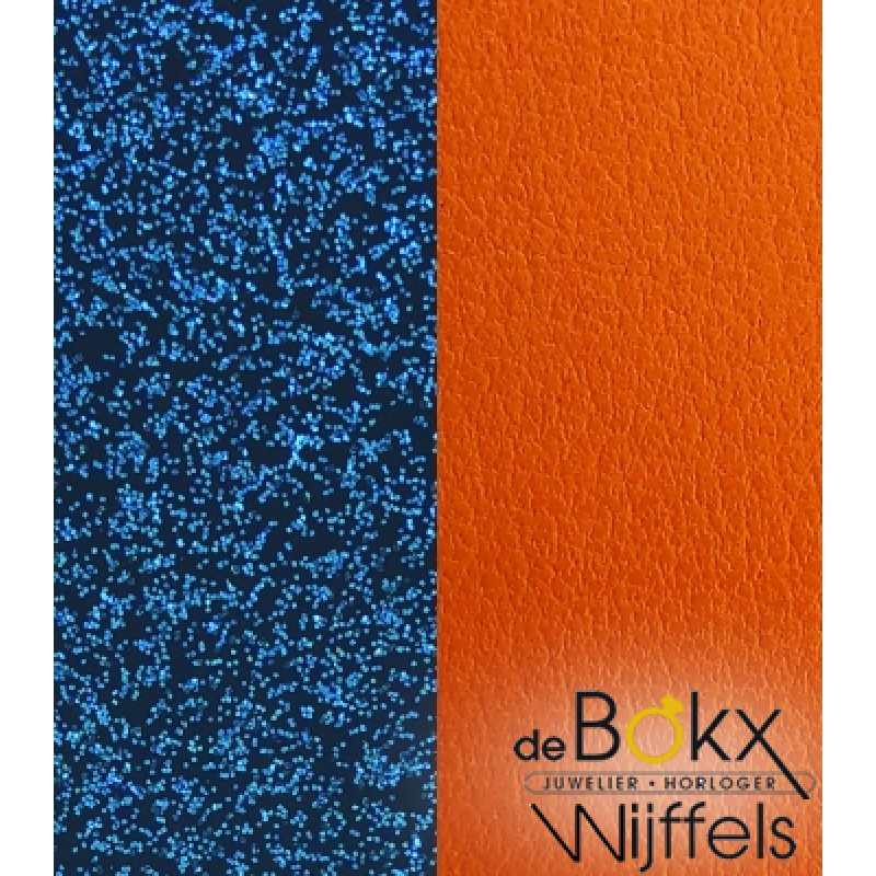 Armband leer les Georgettes 40mm glitter / apricot - 56507