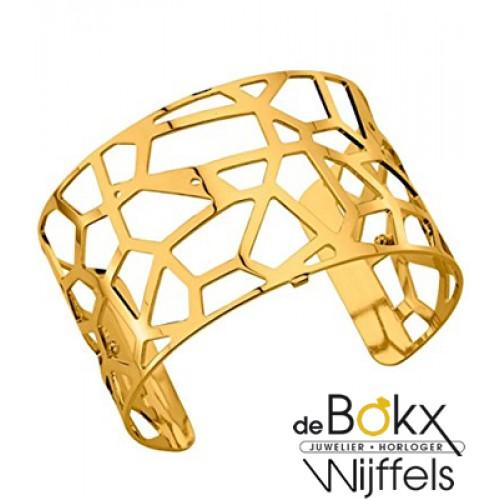 Armband Girafe 40mm les Georgettes goud met leer inzet - 55788