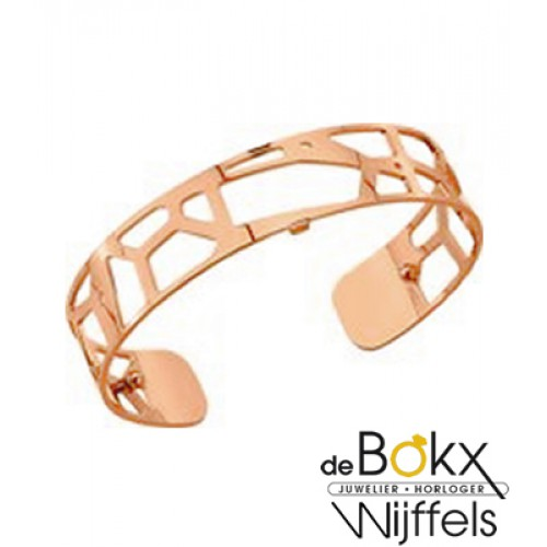 Armband Girafe 14mm les Georgettes mat rose goud - 55789