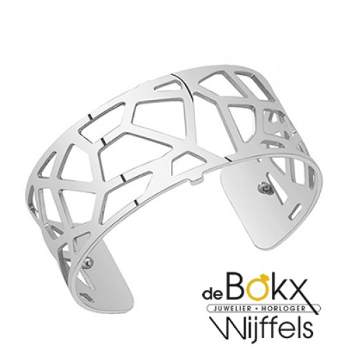 les Georgettes armband 25mm girafe zilver - 56055