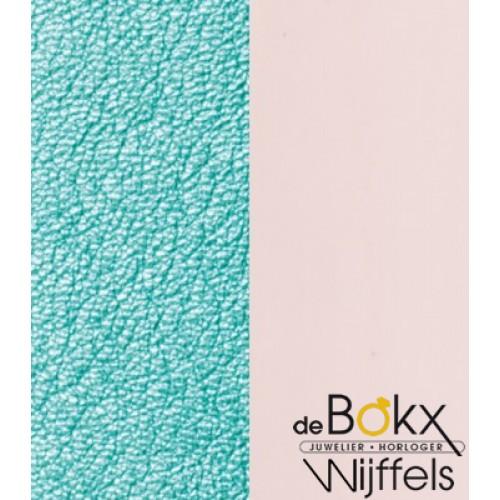 les Georgettes leer 25mm nude/metalic turquoise - 55881