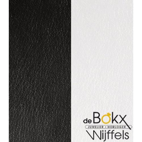 XL Armband fougeres 25mm les Georgettes roze goud met zwart en wit leer - 55801