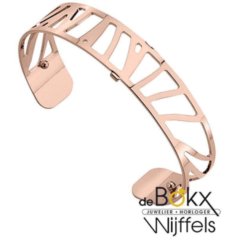 Armband perroquet 14mm les Georgettes roze goud XL - 55802