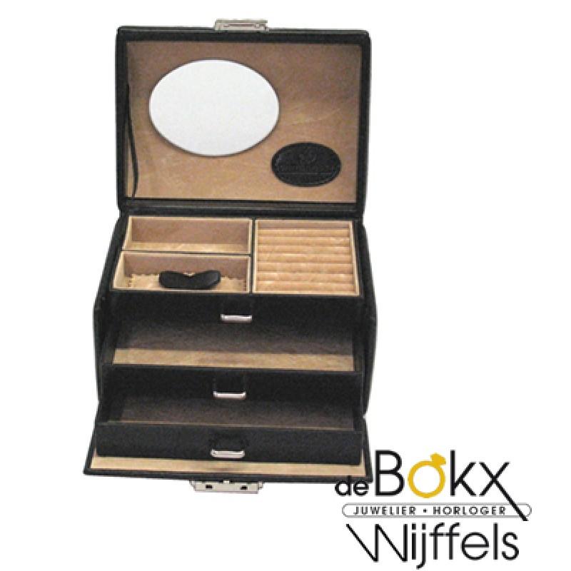 sieraden koffer windrose zwart merino 803676-8 - 56402