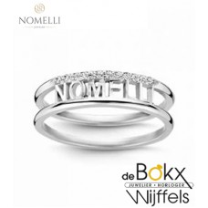 Nomelli naam ring zilver - 56731