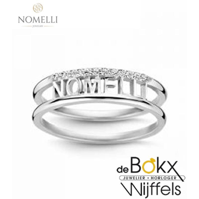 Nomelli naam ring zilver - 56731