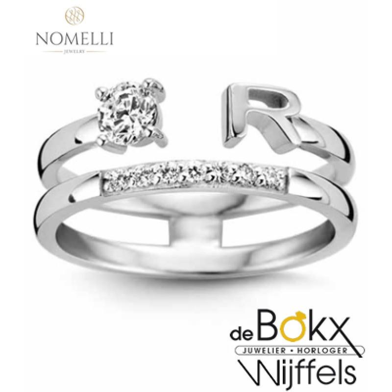 Nomelli letter ring zilver - 56732