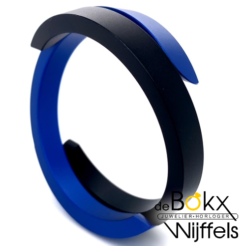Armband Clic zwart blauw met magneet sluiting - 57700