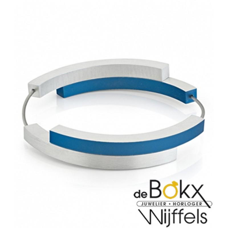 Clic by suzanne armband A32B Blauw met vier bogen met dubbele magneetsluitingen - 56287