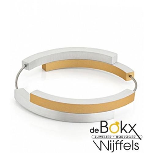 Clic by suzanne armband A32G goud kleur met vier bogen met dubbele magneetsluitingen - 56281