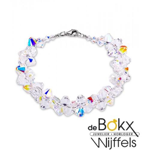 Spark bicone armband met zilver en Swarovski - 54131