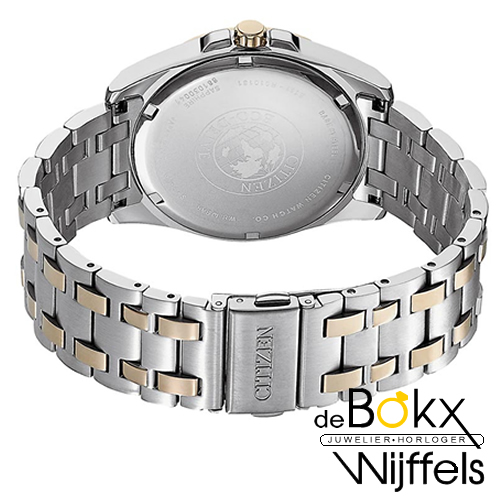 Citizen heren horloge BM7109-89E eco-drive Edelstalen, goud verguld - 56486