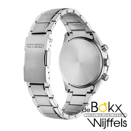 Citizen heren horloge titanium radio gestuurd eco-drive CB5020-87L - 56857