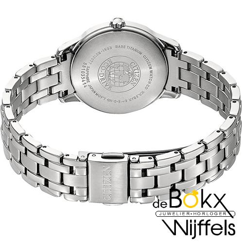 Citizen dames horloge EM0720-85N eco-drive titanium diamant - 56487