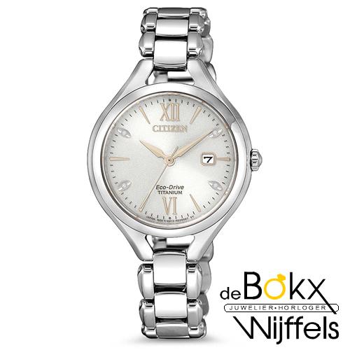 Citizen dames titanium horloge EW2560-86A - 57028