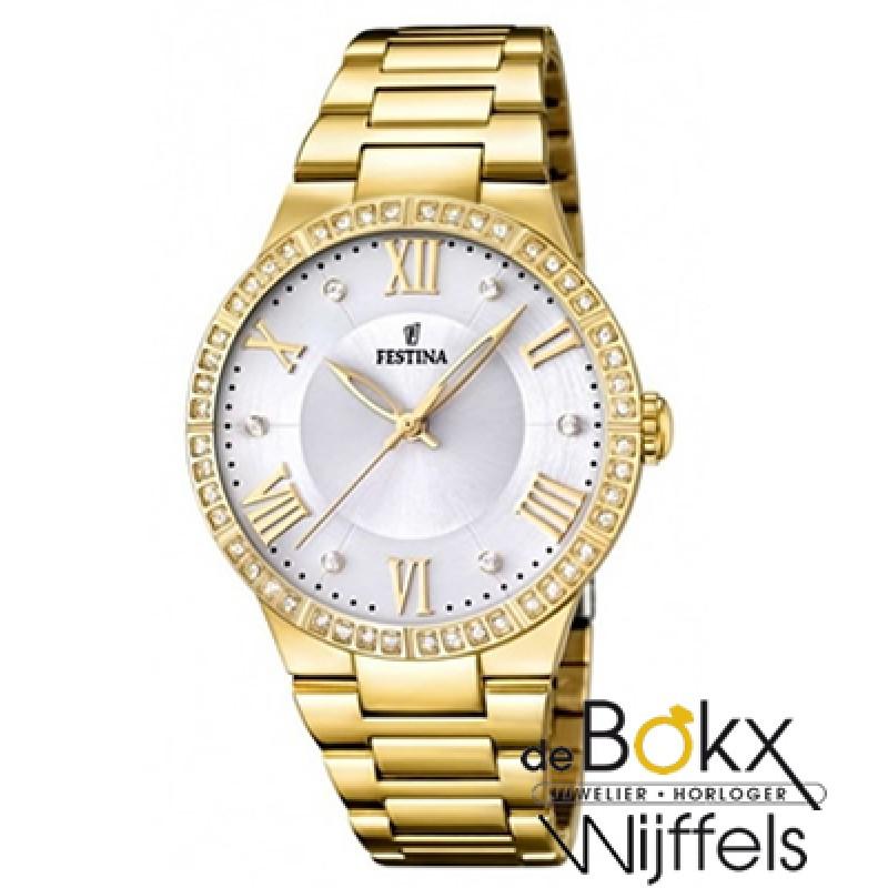 Festina dames horloge goud kleurig  F16720/1 - 522...