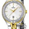 Festina dames bicolor horloge met steentjes F16868-1 - 55837