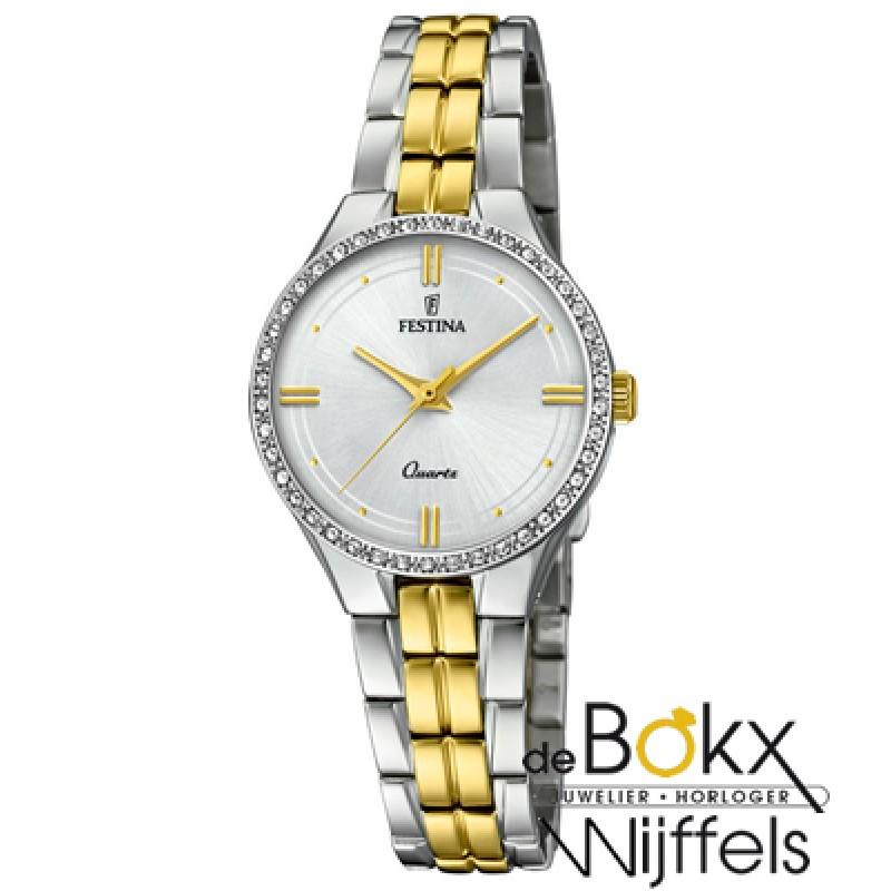 Festina dames horloge staal en goud kleurig F20219...