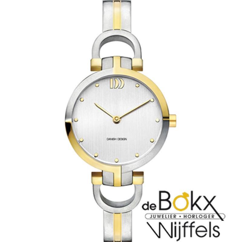 Antiallergisch dames horloge in titanium bicolour uitvoering - 51290