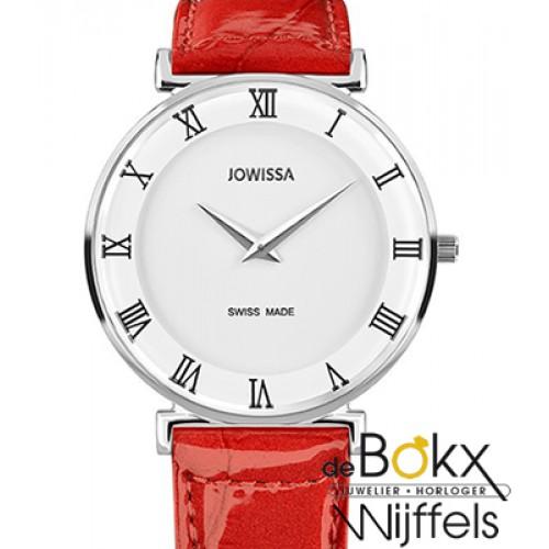 Jowisa horloge met rode leren band van de Roma collectie J2.201.L - 55481