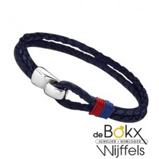 lotus style heren armband leer - 54601